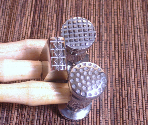 Texturing hammer set, 3 designs, texture metal work, design hammer, art hammers, circle pattern, line designs, star design - Romazone