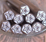 STAR steel stamp, 5 x 5mm size, USA made, metal stamping - Romazone
