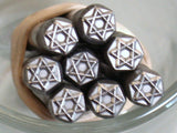 Star of David Design 5x5mm stamp for metal jewelry stamping of copper silver fine silver - Romazone