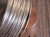 half Round, sterling silver, 11 gauge wire, 10 ft, great for rings, bangle wire - Romazone