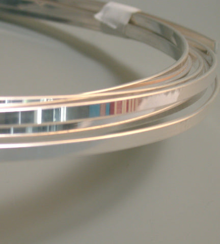 Cuff wire, Thick Flat cuff wire, Sterling Silver wire,  1/16 x 3/16 inch, 1.58x4.76 mm, choose length - Romazone