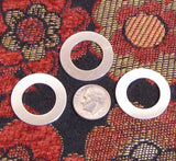 Sterling Washers, 1 inch washer, 5mm rim, 22 gauge Sterling, jewelry element, round silver washers - Romazone