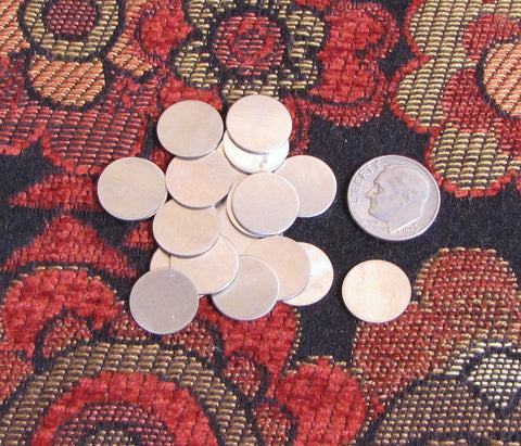 22 gauge 1/2 Nickel silver discs - 40 count - a great low cost way to stamp - Romazone
