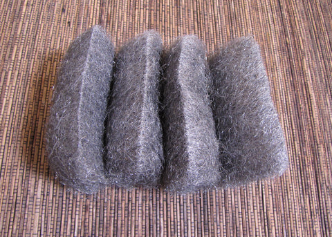 steel wool 0, 8 pad pack, for matte finish, rustic look, oxidize remover - Romazone