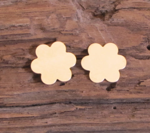 Gold Filled flower blanks, USA made, 24 gauge, 2 daisy flower, double clad, jewelry stamping - Romazone