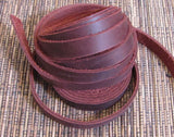 Wrap Bracelet,  wrap leather, narrow Leather strips , leather Strapping .5 inch, 1/2 inch Brown, 2 60 inch strips 120 inches Soft supple - Romazone