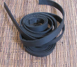 Wrap Bracelet Leather Strapping .5 inch black. 2 48 inch strips 96 inches Soft supple - Romazone