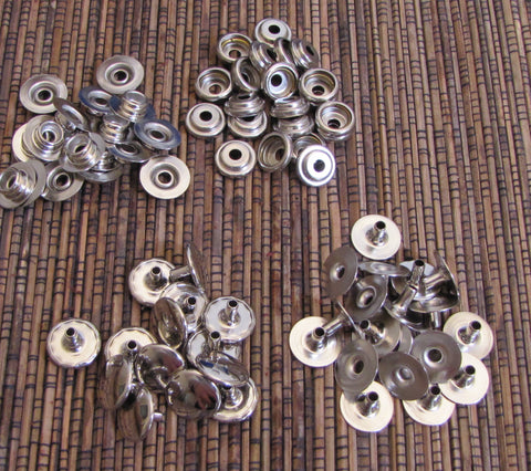 Nickel 20 line snaps 15 pc assembly use snap setter in my shop. - Romazone