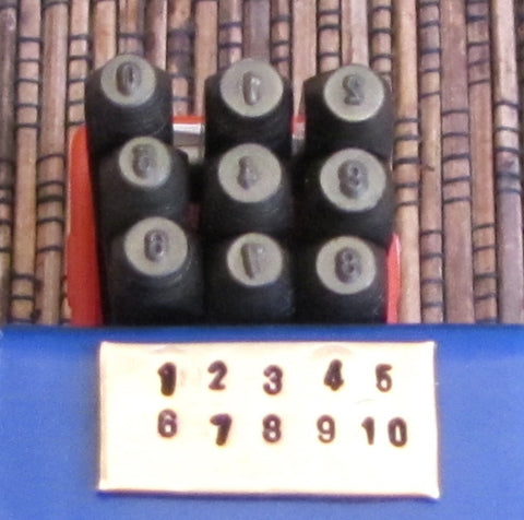Small 1.5 mm numbers, steel stamps set,  metal stamping tools - Romazone