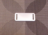 ID tag blanks, for leather jewelry, sterling silver, 22 gauge,  1 3/4 x 3/4, slot size 8/16 x 1/16 - Romazone