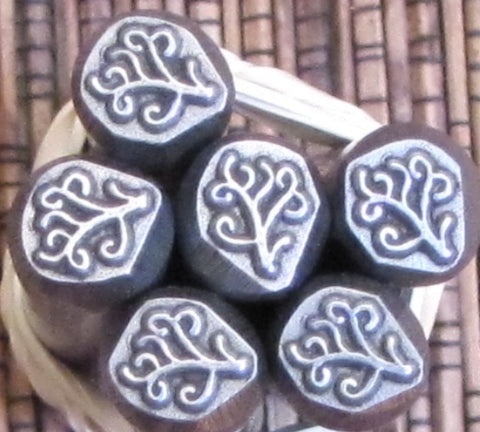 Wild Foliage 3/8 Design Stamp 7 mm x 6 mm looks great free form foliage - Romazone