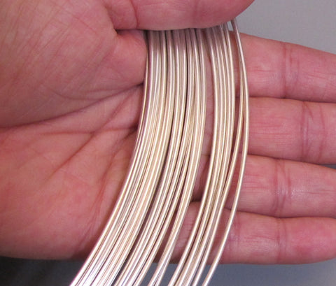 Round Wire, 14 Gauge Dead soft, 5 feet sterling silver, Bracelet making, stack ring wire - Romazone