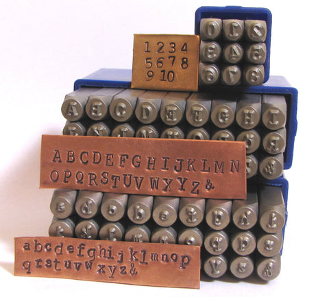 Typewriter 3 mm letters and numbers, Cambria font, News print font, both cases, metal stamping set, old type font, stamping letters - Romazone