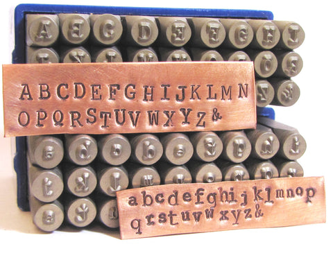 Typewriter letters 3mm,  Metal Alphabet stamps, both cases, cambria font, typewriter stamps,  news print letters, old news print. - Romazone
