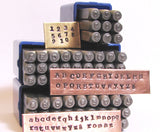 News Print 2mm, Typewriter stamps, steel letters numbers set, Type style font, old type font, both cases, metal stamping - Romazone