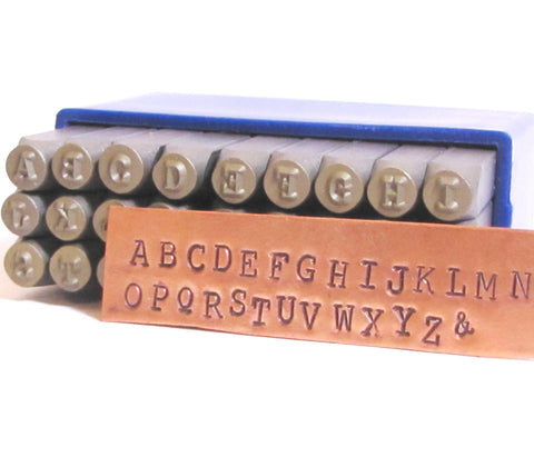 Steel letters set, Typewriter Font, Upper Case 3mm, Metal Alphabet, jewelry stamping - Romazone