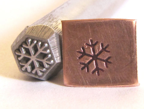 Snow flake 3/8 design stamp Great detail on this stamp 6.5 mm x 6.5 mm - Romazone