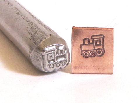 Choo Choo train 3/8 design stamp Great detail on this stamp 7 mm x 6.25 mm Toy train - Romazone