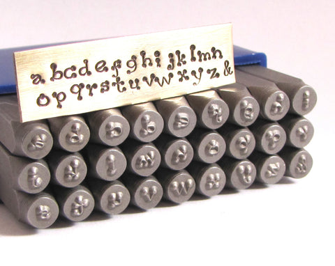 Piccadilly font stamps, 3 mm lower case, tool hardened, steel letter alphabet - Romazone