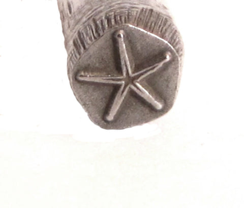 Starfish, Design Stamp, Ocean star, Star of the sea,metal jewelry stamping,  5.5 mm - Romazone