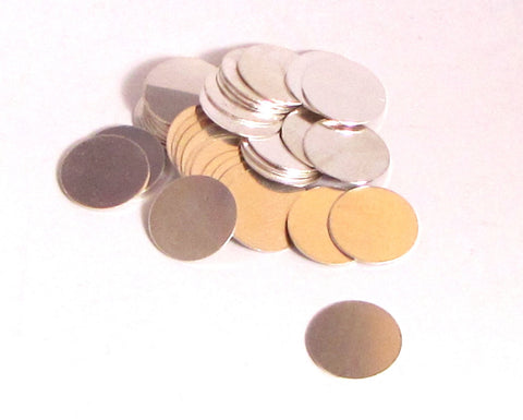 sterling silver disks, 5/8 inch. 5 pack, top quality, 24 gauge,  stamping blanks, USA made - Romazone