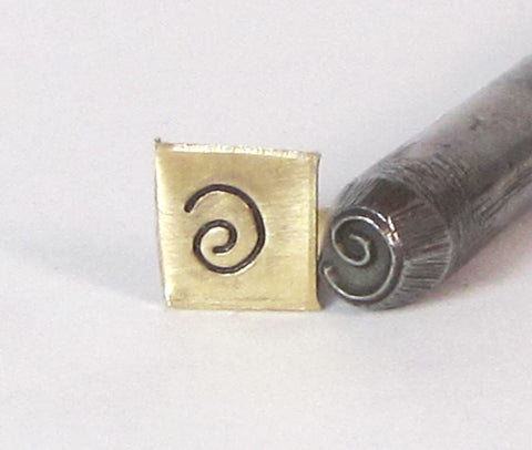 Round Spiral coil, steel stamp, 5 mm size, metal stamping, USA made - Romazone