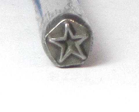 Super STAR design stamp for silver jewelry stamping of charms 5 x 5mm - Romazone