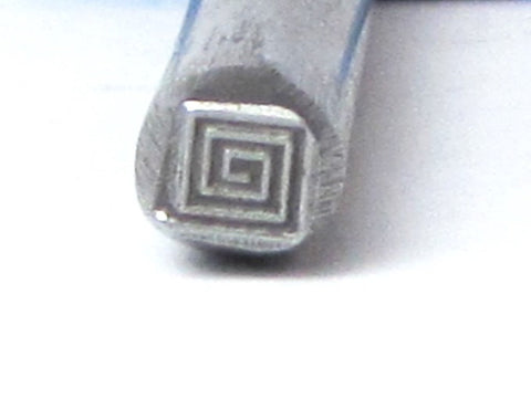 Greek Square Coil, steel stamp, USA made, 5x5 mm, metal stamping - Romazone