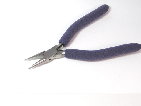 Chain Nose Pliers, box joint 6.5 inches, padded handles, excellent wire working pliers - Romazone