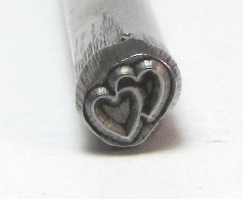 Two Hearts Together Steel Design Stamp For Jewelry Stamping USA Made Heat Treated 5x5mm