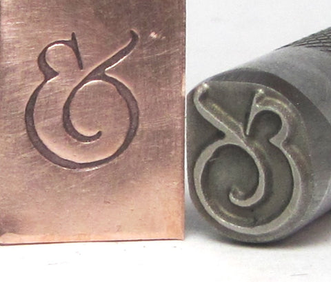 Chubby Ampersand stamp, big fat 8.5mm x 11mm size in .5 inch shank endless possiblilties - Romazone