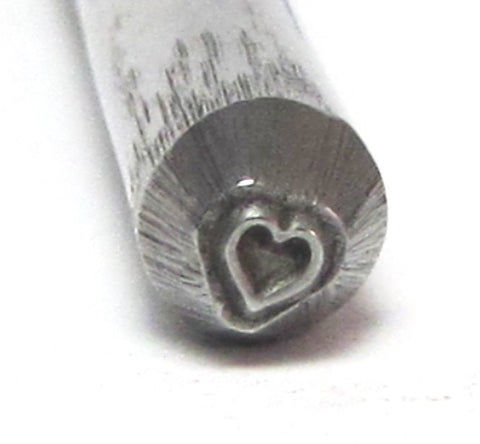 Micro Traditional Heart stamp teeny 2.5mm a darling size for small charms and earrings - Romazone