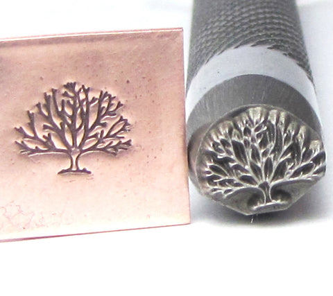 Tree of Life, 8 x 7 mm Design Stamp, USA made,  professional grade, for all metals - Romazone