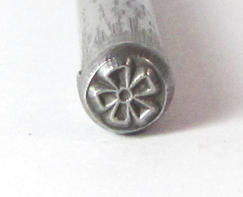 BIG Flower, bloom Design stamp, 5.5 x 5.5 mm, for jewelry stamping - Romazone