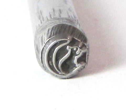 Squirrel design 5x5mm stamp for silver jewelry stamping of charms - Romazone