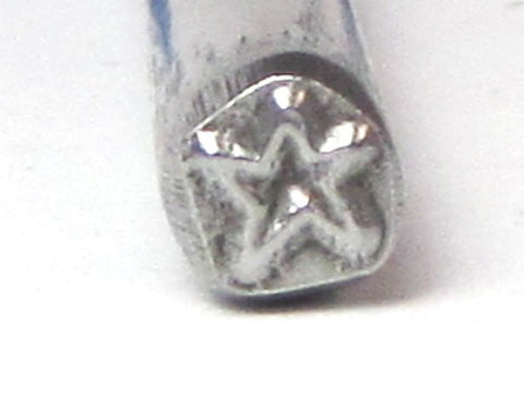 STAR stamp, 5 x 5 mm, jewelry stamping, create with metal, steel star stamp - Romazone