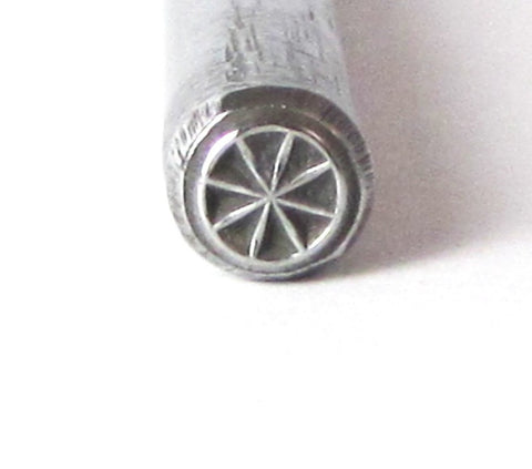 Bike Wheel design stamp for jewelry stamping 5mm of silver copper brass - Romazone