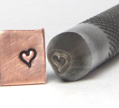 Mini Sassy Heart 3x4 mm design stamp professional grade  with you in mind for stainless. - Romazone
