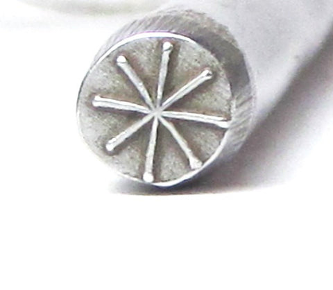 Native Stick Star stamp 5mm for silver jewelry name charm and pendant stamping - Romazone