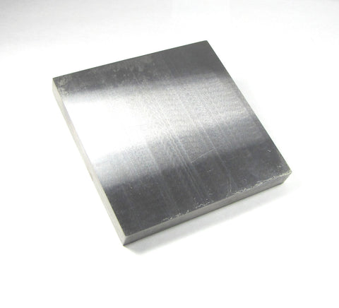 bench block, 6 x 6 x 3/4, Smooth large block, steel block, polished steel, stamping block, forging block, large work area - Romazone