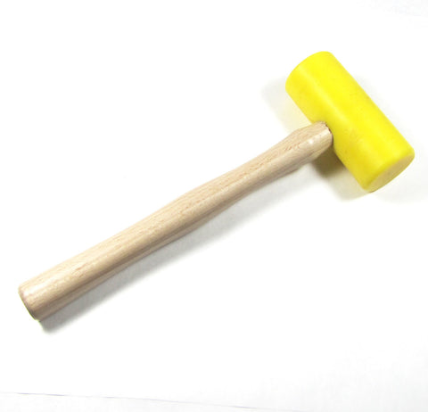 Plastic mallet, large size, head size 1 3/4 x 3 3/4 inches, metal shaping, metal forming, leather working, good balance - Romazone