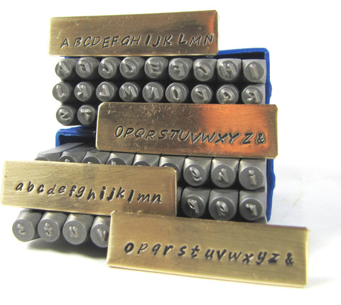 Hand Print font, 2mm Upper & Lower case, steel alphabet stamps, metal stamping - Romazone