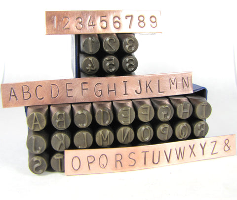Huge 8 mm 5/16 inch steel letters,  Metal Alphabet stamps, letters with numbers, for hand stamping - Romazone