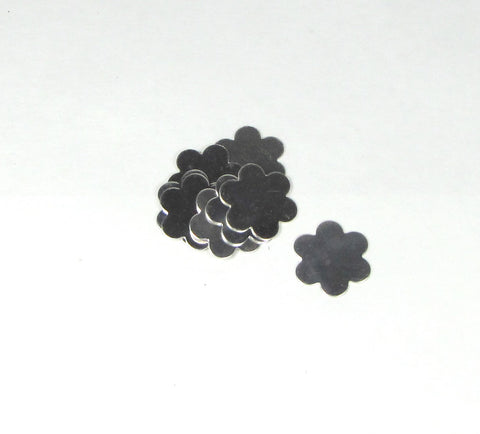sterling flower blanks, 3 - 3/4 inch 22 gauge,  USA made, daises for hand stamping jewelry, Sterling silver - Romazone