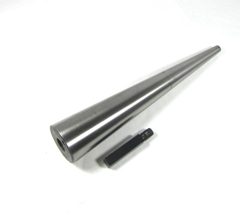 Hoop mandrel, steel with removable tang, circle forming, 12 inches long, base 2 1/8 inches, tip .5 inch - Romazone