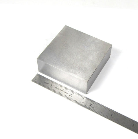 Steel block, 2.5 x 2.5 x 3/4 inch, bench block, hand stamping, wire forging, metal texturing base - Romazone