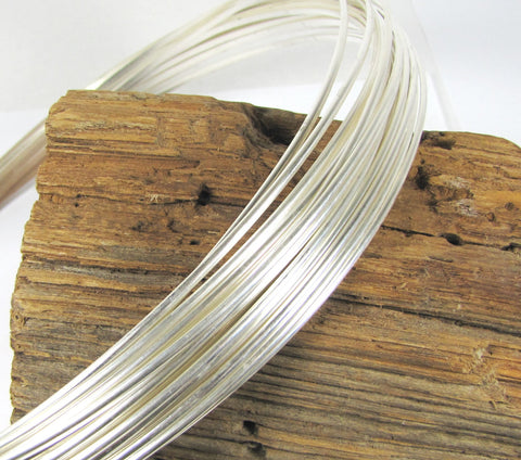 sterling silver wire, 6 ft of 10 gauge, half Round, stack ring wire, bangle wire - Romazone