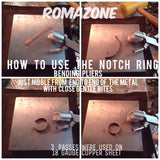 Ring Bending pliers, ring forming, circle forming with nylon jaw for no scratch bending - - Romazone