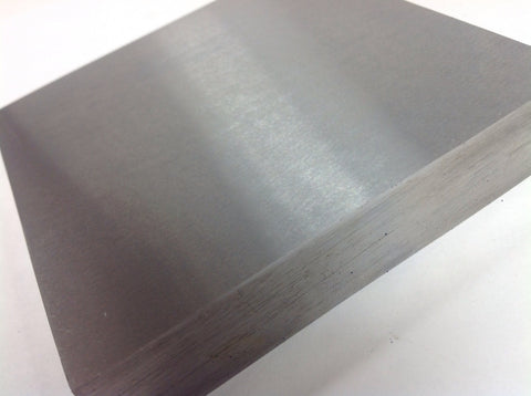 Steel Bench Block, 4 x 4 x 1/2 inch, Polished smooth, stamping block, forging block, metal working block, bench block, hammer block - Romazone