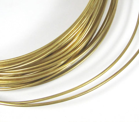 Red Brass wire, Big Round gold wire, 10 gauge wire, 10 ft of 10 gauge, cuff wire, bangle wire, gold wire, thick brass wire, red brass - Romazone